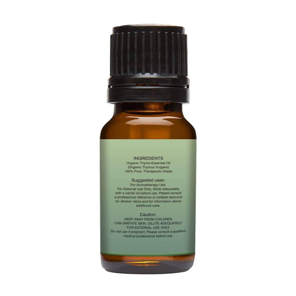 Organic Thyme Essential Oil left back