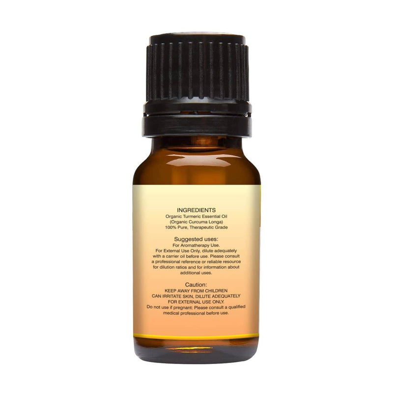 Organic Turmeric Essential Oil left back