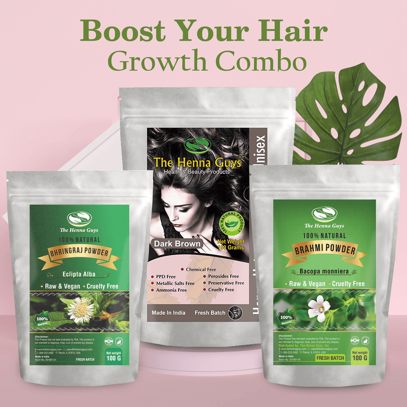 Boost Your Hair Growth Combo - Henna Hair Dye.