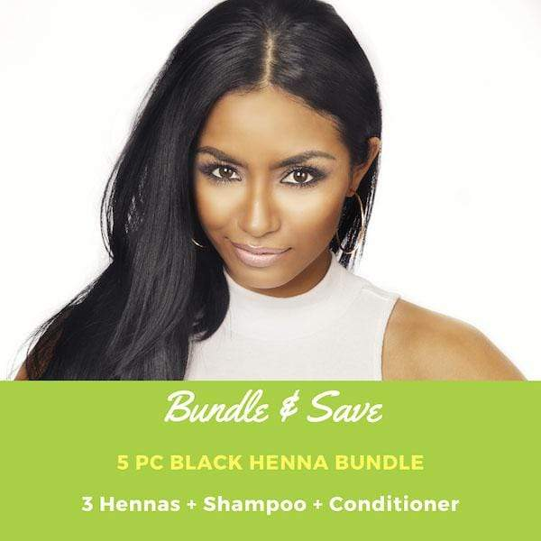 Henna Hair Dye - Black Henna Bundle with Shampoo & Conditioner