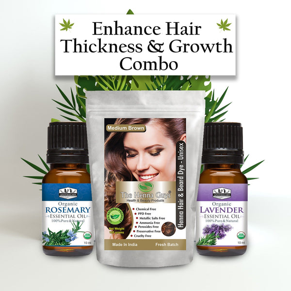 Enhance Hair thickness & Growth Combo - Henna Hair Dye