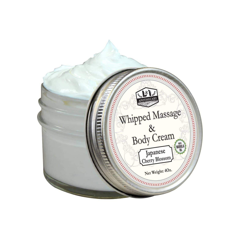 Whipped Face & Body Massage Creams (Japanese cherry bloom)
