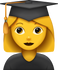 Download Graduated Woman Emoji