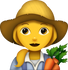Download Farmer Emoji - Woman