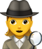 Download Detective Emoji - Woman
