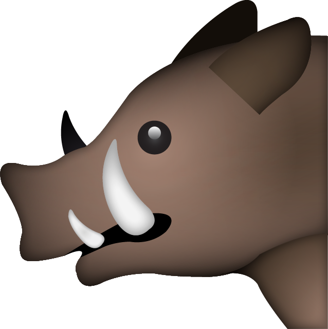 Download Boar Emoji In PNG