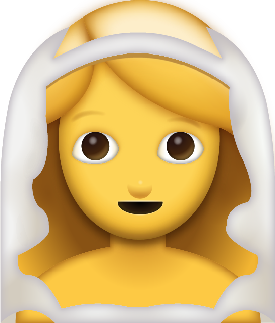 Download Bride With Veil Iphone Emoji JPG