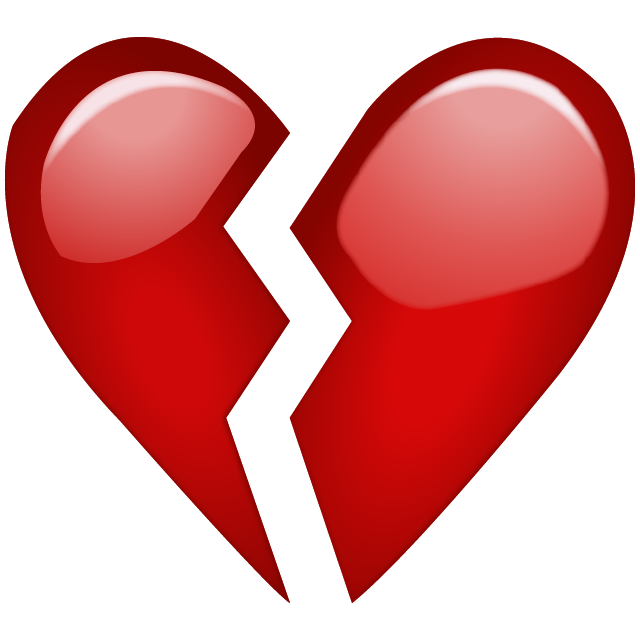 Download Broken Red Heart Emoji Icon Emoji Island
