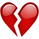 Download Broken Red Heart Emoji Icon