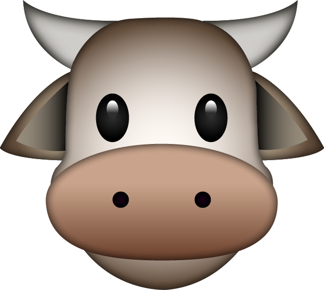 Download Cow Emoji In PNG
