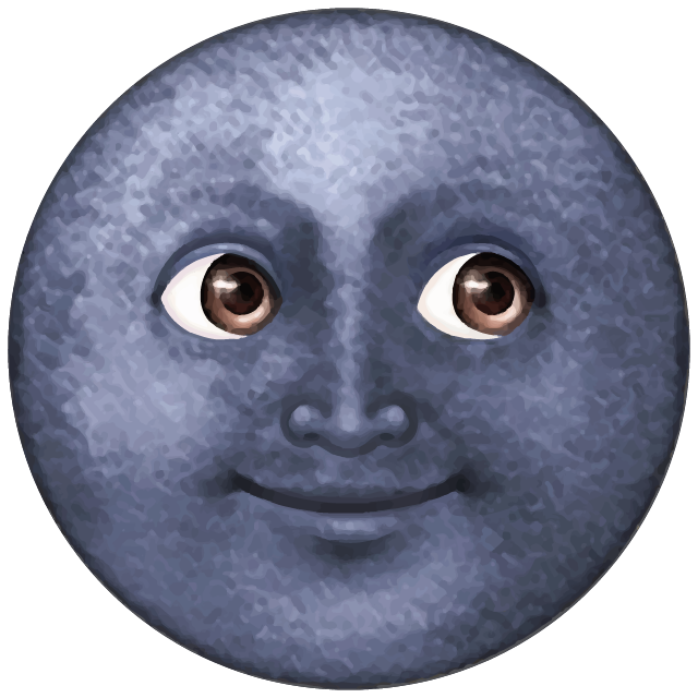 Download Dark Blue Moon Emoji