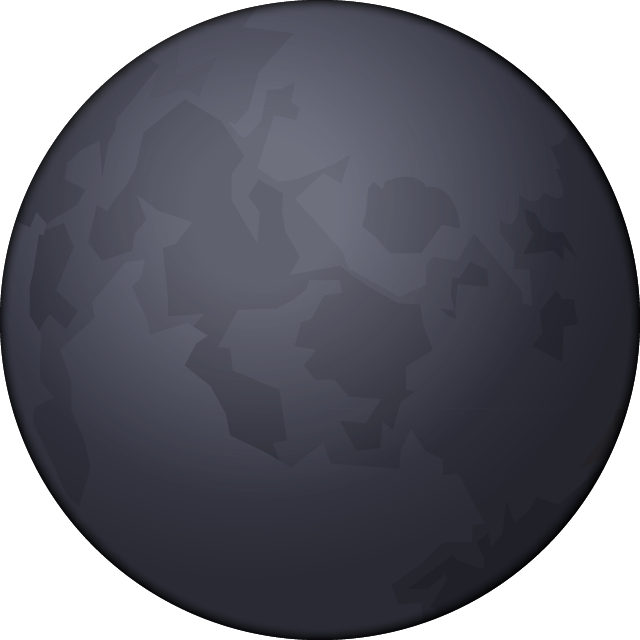 Download Dark Moon Emoji In PNG