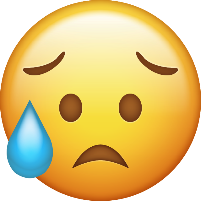 Download Disappointed but Relieved Emoji Icon