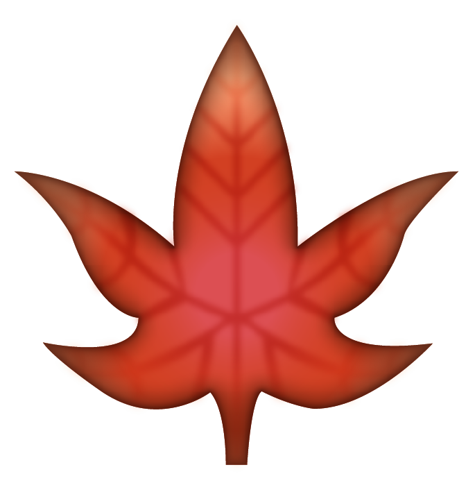 Download Maple Leaf Emoji In PNG