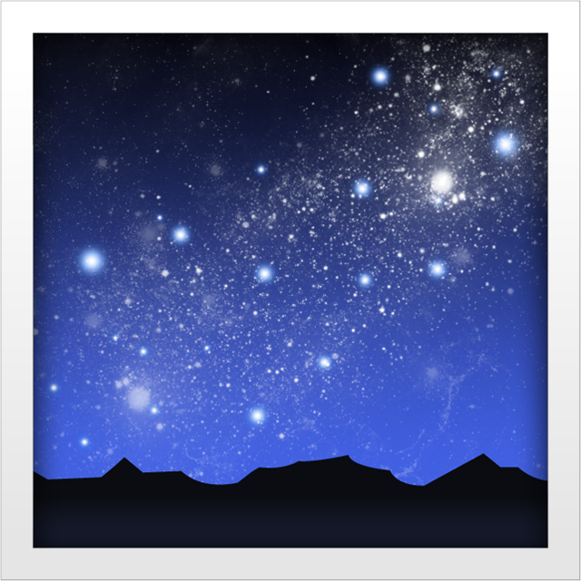 Download Milky Way Emoji In PNG