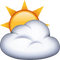 Download Sun Behind Cloud Emoji In PNG