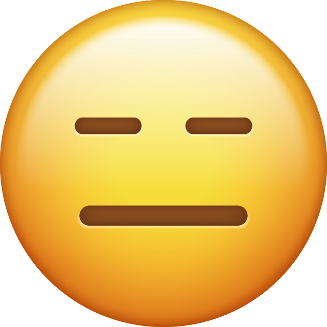 Download Expressionless Emoji Icon