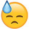 Download Face with Cold Sweat Emoji
