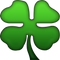 Download Four Leaf Clover Emoji  In PNG