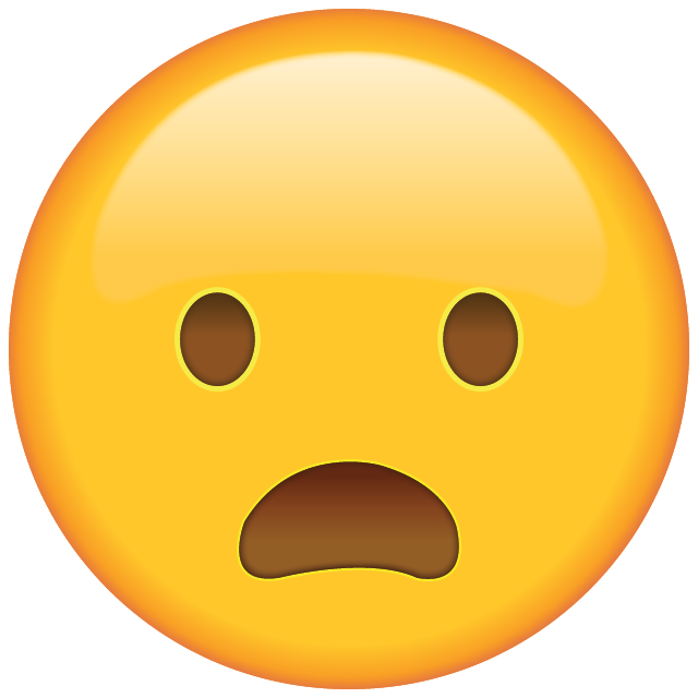 Download Frowning Face with Open Mouth Emoji