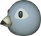 Download Grey Bird Emoji In PNG