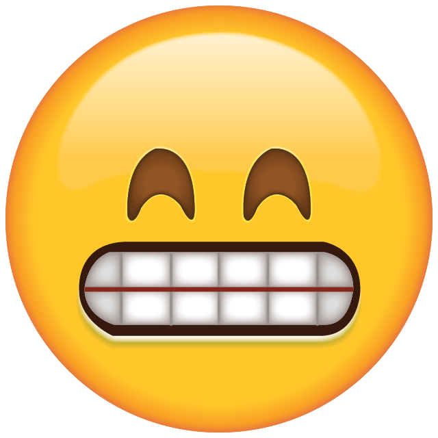 Download Grinning Emoji with Smiling Eyes