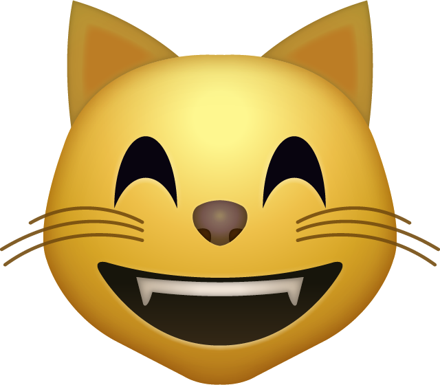 Download Happy cat emoji icon
