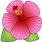 Download Hibiscus Flower Emoji In PNG