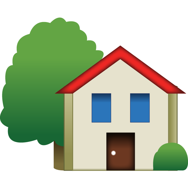 Download House Emoji With Tree