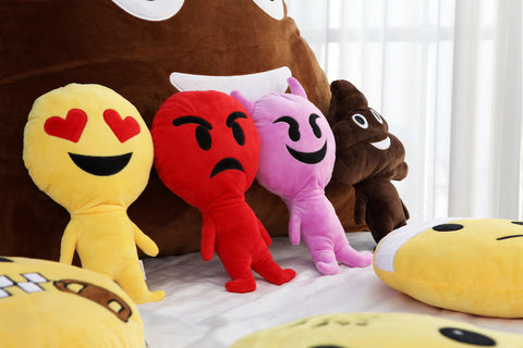New cuddle buddy - human emoji pillows
