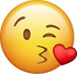 Download Kiss With Heart Iphone Emoji Image
