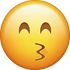 Download Kissing With Closed Eyes Iphone Emoji Image