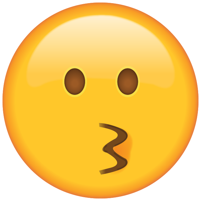 Download Kissing Face Emoji [Free PNG - Apple Emoji Images]