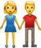 Download Man And Woman Holding Hands Iphone Emoji JPG