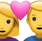 Download Man And Woman With Heart Iphone Emoji JPG
