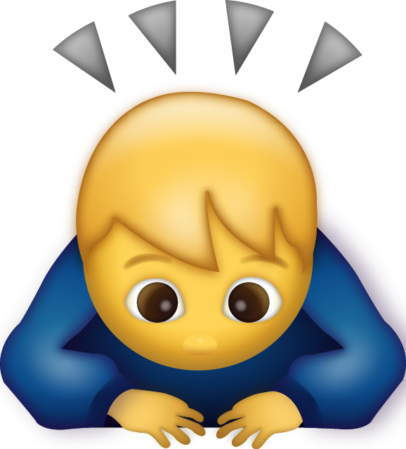 Download Man Bowing Iphone Emoji JPG