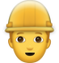 Download Man Construction Worker Iphone Emoji JPG