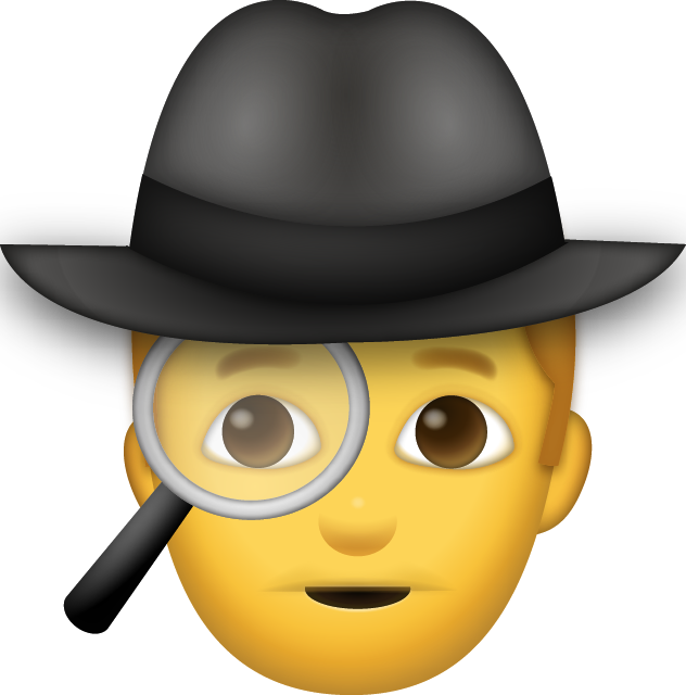 Download Man Detective Iphone Emoji JPG