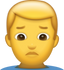 Download Man Pouting Iphone Emoji JPG