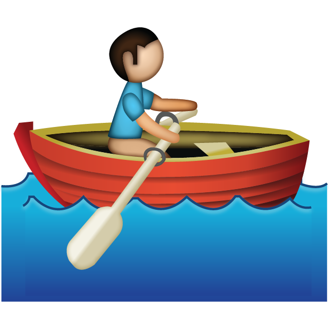 Download Man Rowing Emoji