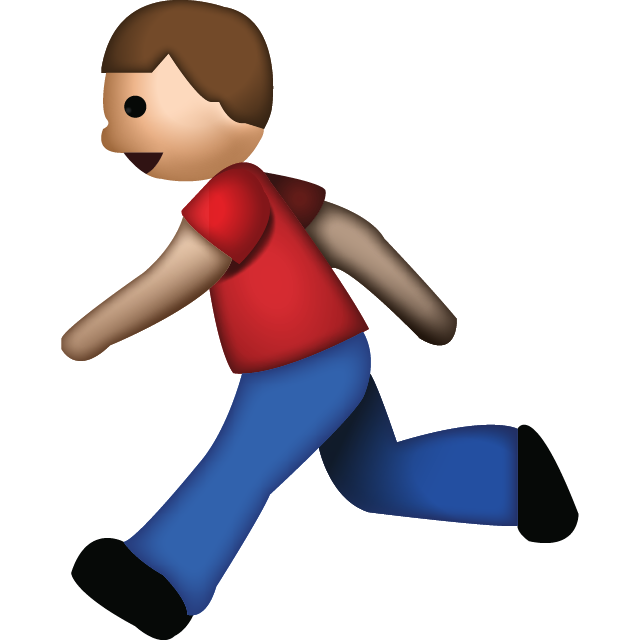 Download Man Running Emoji