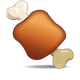 Download Meat on Bone Emoji Icon