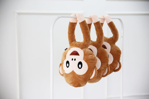 Cute monkey emoji pillow - emoji island