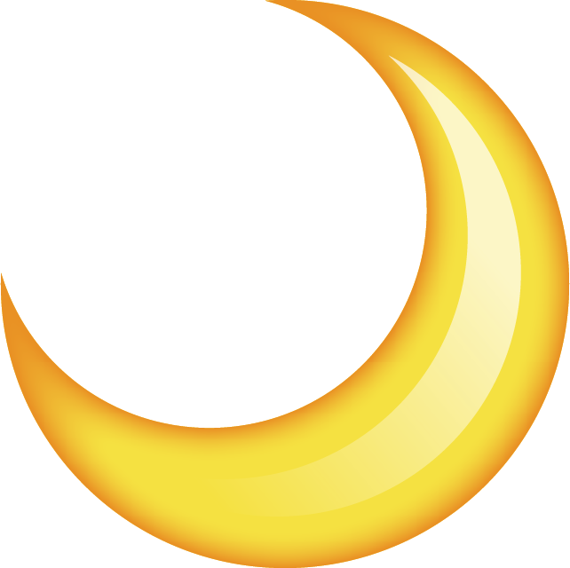 Download Moon Emoji In PNG