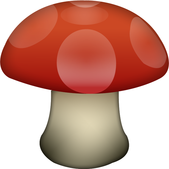 Download Mushroom Emoji In PNG