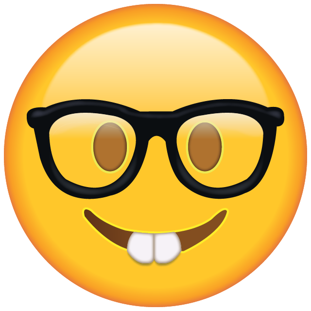 Download Nerd with Glasses Emoji