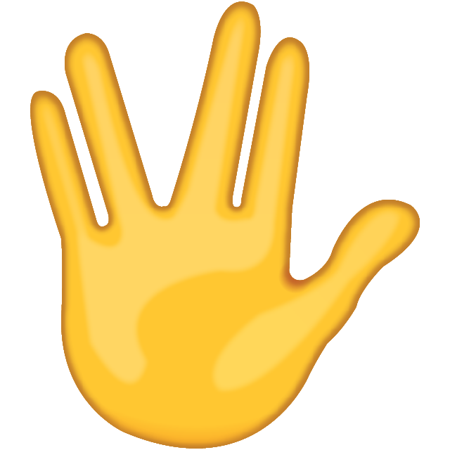 Download Part Between Middle and Ring Fingers Emoji