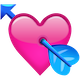 Download Pink Heart With Arrow Emoji Icon