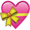 Download Pink Heart With Ribbon Emoji Icon