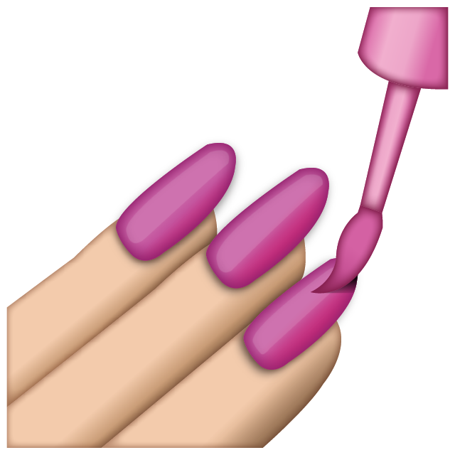 Download Pink Nail Polish Emoji